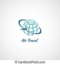 Airplane icon globe