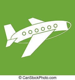 Airplane icon green