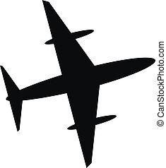 Airplane icon - Plane icon on white background. Vector...