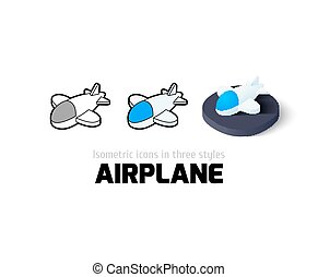 Airplane icon in different style