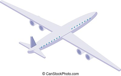 Airplane icon, isometric style