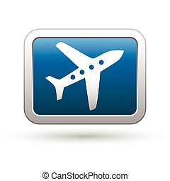 Airplane icon on the blue button