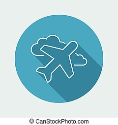 Airplane icon - Thin series