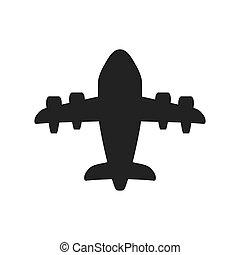 Airplane icon. Transportation design. Vector graphic