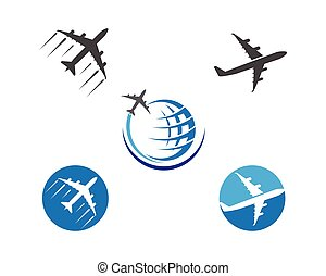 Airplane icon vector illustration