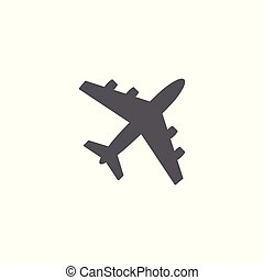 Airplane icon vector on white background