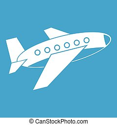 Airplane icon white