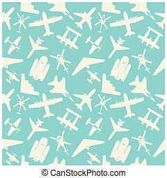 airplane  icons and  background, pattern