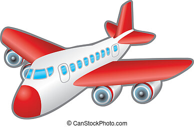 Children?s illustration of a jumbo jet airplane. No meshes used.
