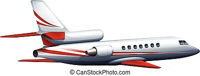 Airplane - Illustration of a close up airplane