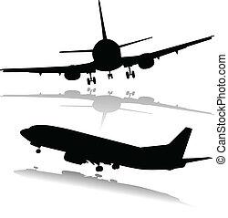 airplane illustration silhouettes