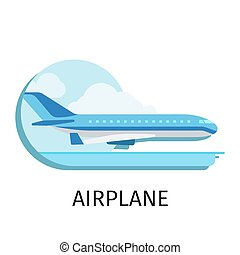 Airplane in flat style