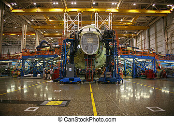 Airplane in Production - Inside Aerospace Manufacturing...