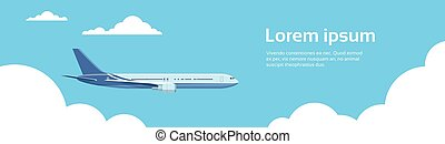 Airplane In Sky Aircraft Air Travel Transportation