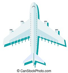 Airplane in the air vector illustration.