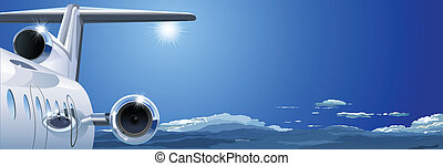 airplane in the Sky. Available EPS-8 vector format separated...