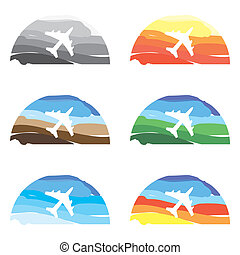 airplane in the sky icon