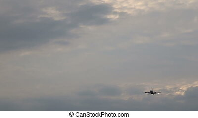 Airplane in the Sky Landing