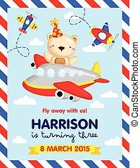 Airplane Invitation