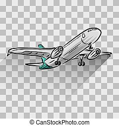 Airplane Isolated On Transparent