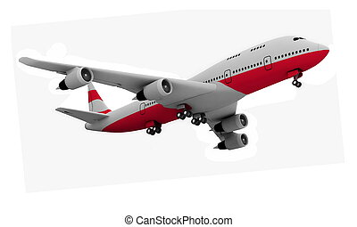 Airplane isolated on white - Airplane isolated on white...