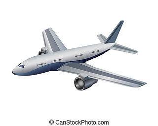 airplane isolated on white