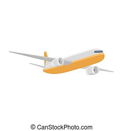 Airplane isolated vector illustration
