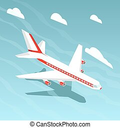 Airplane isometric style vector illustration