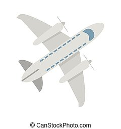 Airplane jet symbol topview