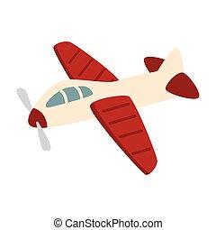 airplane kid toy icon vector illustration