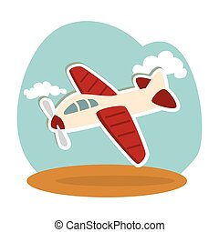 airplane kids toy isolated icon