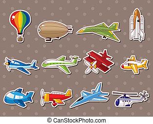 airplane, klistermärken