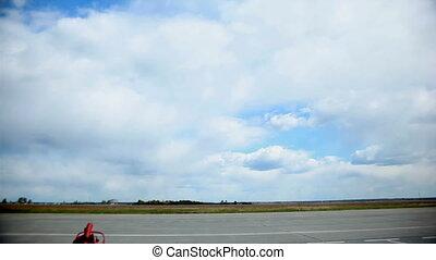 airplane landing  - airplane landing