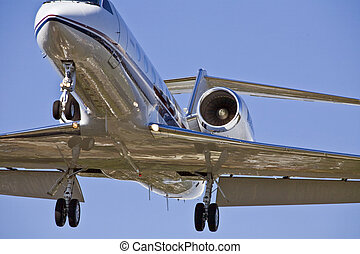 Airplane Landing Approach - Airplane in landing...