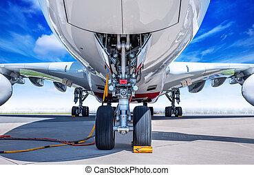 airplane - landing gear of an modern airliner