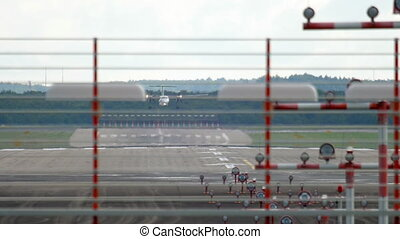 Airplane landing in Dusseldorf
