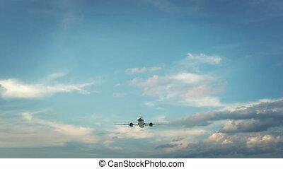 Airplane Landing Shanghai China - Real 3d render of airplane...