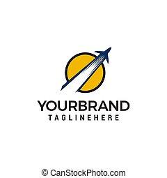airplane logo design concept template vector