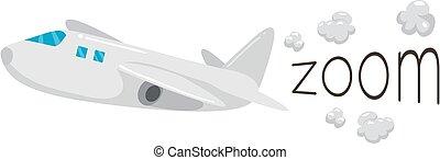 Airplane Onomatopoeia Sound Zoom Illustration