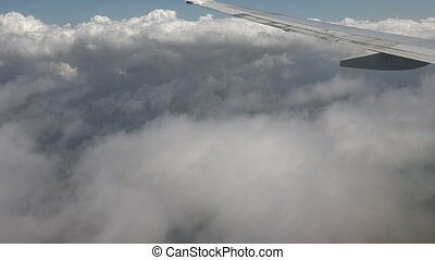 Airplane Outside View From Window - Looking out the airplane...