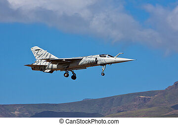 airplane - dassault mirage f1 airplane on blue sky day