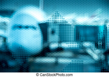 Airplane prepare for fight at the air port, unfocused dot...