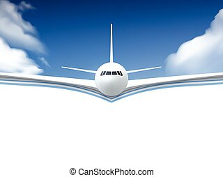 Airplane Realistic Poster