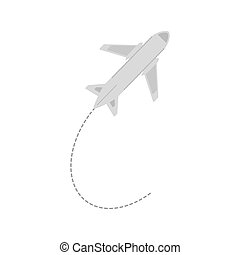 airplane, resa, affär, semester