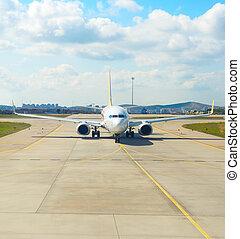 Airplane runway airport Turkey