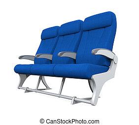 Airplane Seats Isolated - Airplane Seats isolated on white...