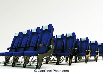 airplane seats isolated on white background