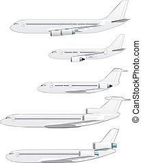 AIRPLANE SET - passenger airplane set