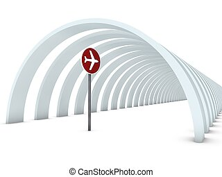 airplane sign for traffic