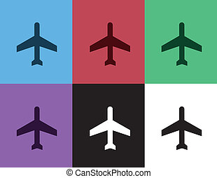 Airplane Silhouette Colors